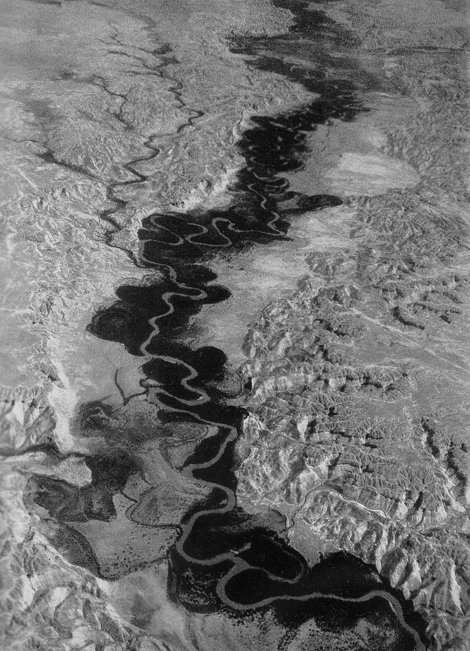 The Jordan River loops, aerial view 1938