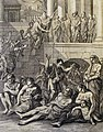 The Phillip Medhurst Picture Torah 333. The plague of boils. Exodus cap 9 vv 8-12. Caspar Luyken.jpg