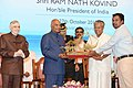 The President, Shri Ram Nath Kovind at the civic reception, at Thiruvanthapuram, in Kerala.jpg