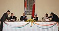 The President of Belarus, Mr. Aleksandr Lukashenko and the Prime Minister Dr. Manmohan Singh witnessing the signing of agreements between India and Belarus, in New Delhi on April 16, 2007.jpg