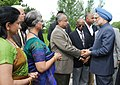 The Prime Minister, Dr Manmohan Singh meets with the families of victims during his Air India Memorial visit, at Toronto, in Canada on June 28, 2010.jpg
