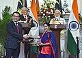 The Prime Minister, Shri Narendra Modi and the Prime Minister of Malaysia, Dato' Sri Mohd Najib Bin Tun Abdul Razak witnessing the exchange of agreements, at Hyderabad House, in New Delhi on April 01, 2017.jpg