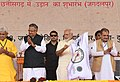 The Prime Minister, Shri Narendra Modi inaugurating the air services between Jagdalpur and Raipur, at a function, in Bhilai, Chhattisgarh.JPG