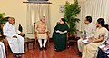 The Prime Minister, Shri Narendra Modi reviews the flood situation in Chennai with the Governor of Tamil Nadu, Dr. K. Rosaiah and the Chief Minister of Tamil Nadu, Ms. J. Jayalalithaa, on December 03, 2015.jpg