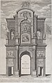 The Return of Monarchy; the first triumphal arch erected for Charles II in his passage through the city of London for his coronation, April 22, 1661 MET DP875173.jpg