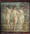 The Three Graces, from Pompeii (fresco).jpg