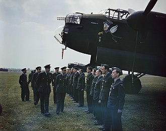 No. 617 Squadron RAF - King George VI visiting 617 Squadron in 1943