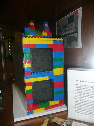 Lego in popular culture - Image: The first Google computer at Stanford