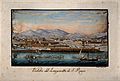 The lazaretto at Livorno, Tuscany, Italy; panoramic view. Co Wellcome V0014779.jpg