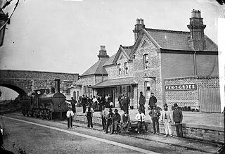 The railway station, Penygroes, Gwynedd