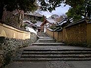 The stairs leading to Nigatsu-dō Hall