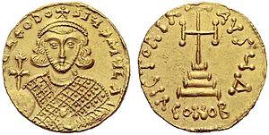 Theodosius III - A coin of Theodosios III