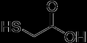 Thioglycolic acid - Image: Thioglycolic acid