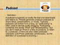 "This important tool called ""Podcast"".pdf"