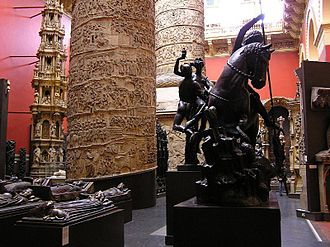 Plaster cast - The West Court of the Cast Courts of the Victoria and Albert Museum.