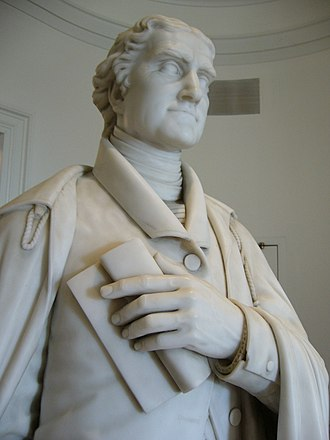 Frank Batten School of Leadership and Public Policy - 1860s statue of Thomas Jefferson in the Rotunda at the University of Virginia