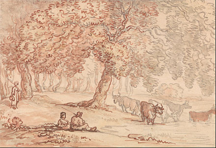 Richmond Park by Thomas Rowlandson Thomas Rowlandson - Richmond Park - Google Art Project.jpg