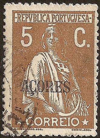 Postage stamps and postal history of the Azores - The Ceres series overprinted for the Azores in 1912