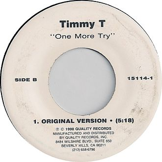 One More Try (Timmy T song) - Image: Timmy t one more try original version quality side b 1990