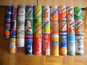 Various tin cans