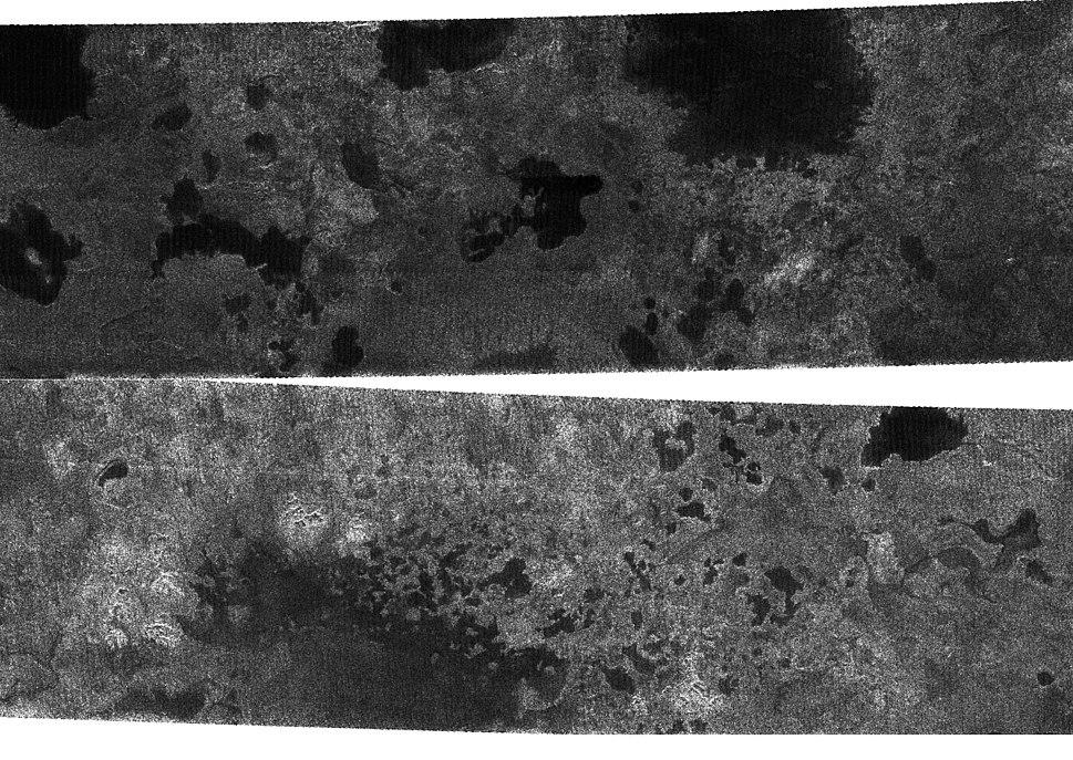 Titan North Pole Lakes PIA08630