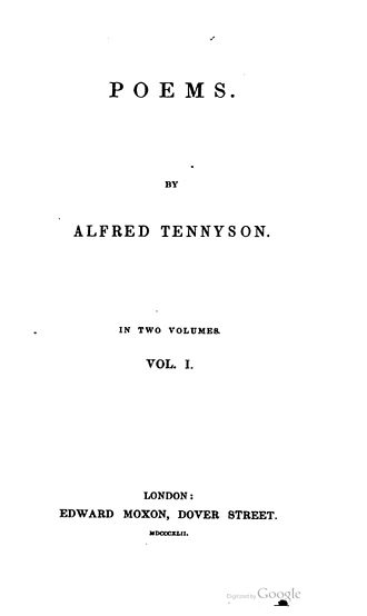 Poems (Tennyson, 1842) - Title-page of volume 1 of the 1st edition