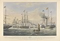 To - Prince Albert - This Engraving representing the Royal George yacht (conveying Her Majesty and Royal Consort to Edinburgh, August, 1842) and squadron off the Bass Rock at the time it was joined by the - steam RMG PY8620.jpg