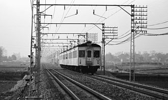 Tobu Ogose Line - Image: Tobu 7300 Isesaki Line 1977