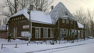 Urban-type settlement in Leningrad Oblast, Russia