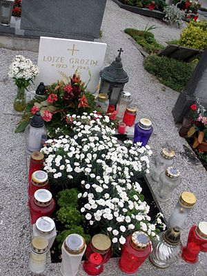 Lojze Grozde - Grave of Lojze Grozde was in Šentrupert
