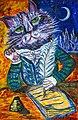 Tomcat Murr. Painting by Diana Ringo.jpg
