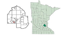 Location of Tonka Baywithin Hennepin County, Minnesota