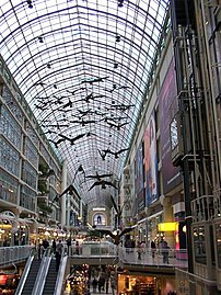 Toronto Eaton Centre, the largest shopping mal...