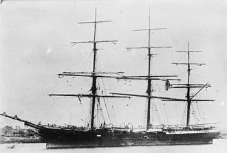 Joseph Conrad's career at sea - Passenger clipper ship Torrens, in which Conrad made two round trips as first mate, from London to Adelaide, Australia, between 21 November 1891 and 26 July 1893