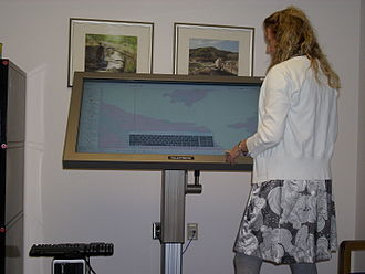 National Mine Map Repository - NMMR's TouchTable, a touch-sensitive map collaboration tool