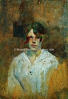 Toulouse-Lautrec - LA BLANCHISSEUSE (verso d'Au bord de l'eau n°35), 1885, MTL.114.jpg