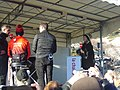 Tour de Provence 2020- 3rd stage- L'Equipe TV area- Claire Bricogne on the right.jpg