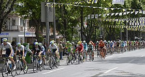2014 Tour of Turkey - Riders in Stage 8 at Bağdat Avenue.