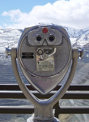 Coin operated binoculars, manufactured by the ...