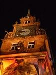 Tower of town hall, Light Festival in Marburg 2016-11-25.jpg