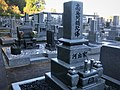 Traditional tombstone in Japan to gather the generations of one family together.jpg