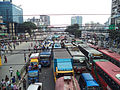 Traffic jam during Private university students in Dhaka protest VAT on tuition fees.jpg