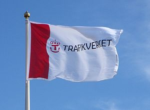 Swedish Transport Administration - Image: Trafikverkets flagga 2012