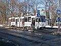 Tram 153 at Sepa Stop Kopli Tallinn 1 March 2016.jpg