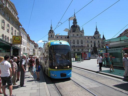 Tramvai in Graz1