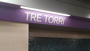 Tre Torri (Milan Metro) - Image: Tre Torri M5