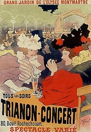Le Trianon (theatre) - Image: Trianon Concert Elysée Montmartre