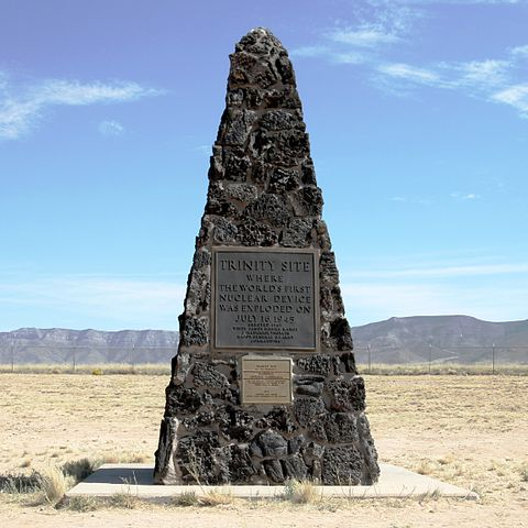 Obelisk in Trinity site, National Historic Landmark, art about nuclear science