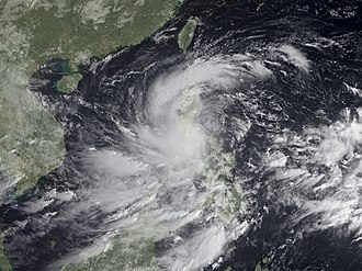 Typhoon Ketsana - Tropical Storm Ketsana over the Philippines on September 26