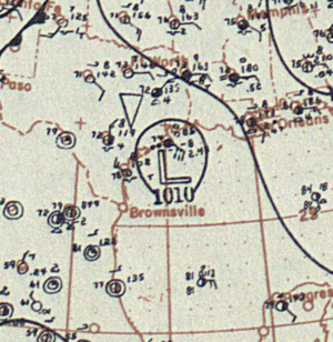 1899 Atlantic hurricane season - Image: Tropical Storm One analysis 27 Jun 1899